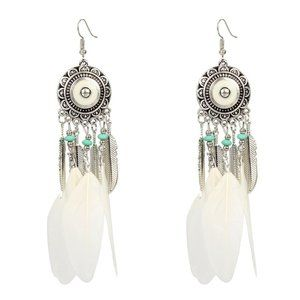 3/$20 New Dreamcatcher Feather Statement Earrings